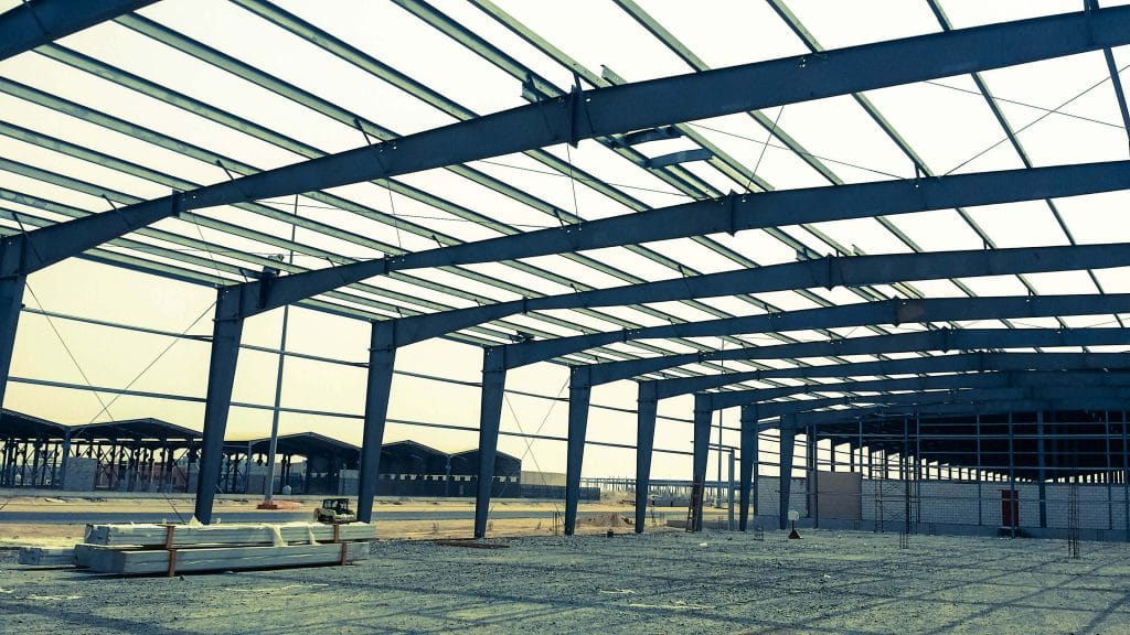 Construction Photo of Steel Structure Building at Jeddah's 3rd Industrial City