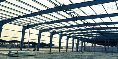 Industrial Construction Work - Steel Structure at Jeddah's 3rd Industrial City